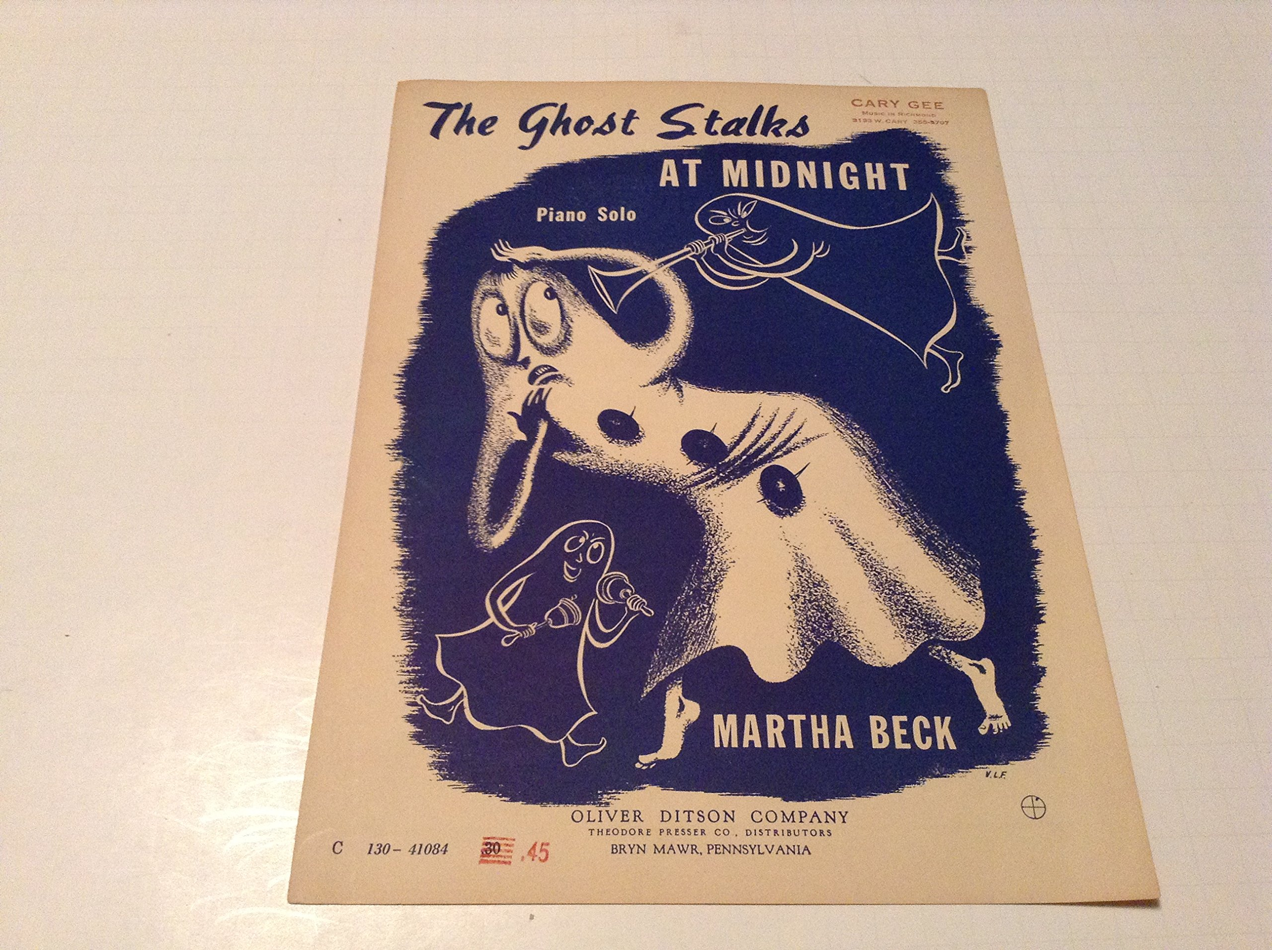 the ghost stalks at midnight sheet music