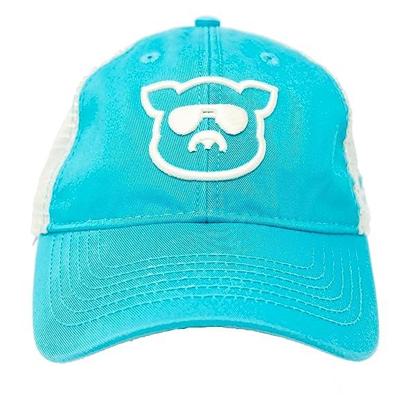 watch 36ff2 fc44a Islanders Pig Face Trucker Hat Mesh Snapback Vintage Feel, Aqua Blue, One  Size at Amazon Men s Clothing store