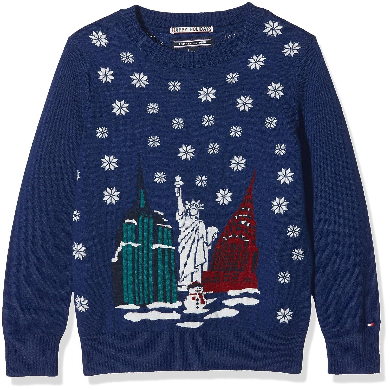 Tommy Hilfiger H Jacquard Sweater L/S, Felpa Bambino KB0KB03665