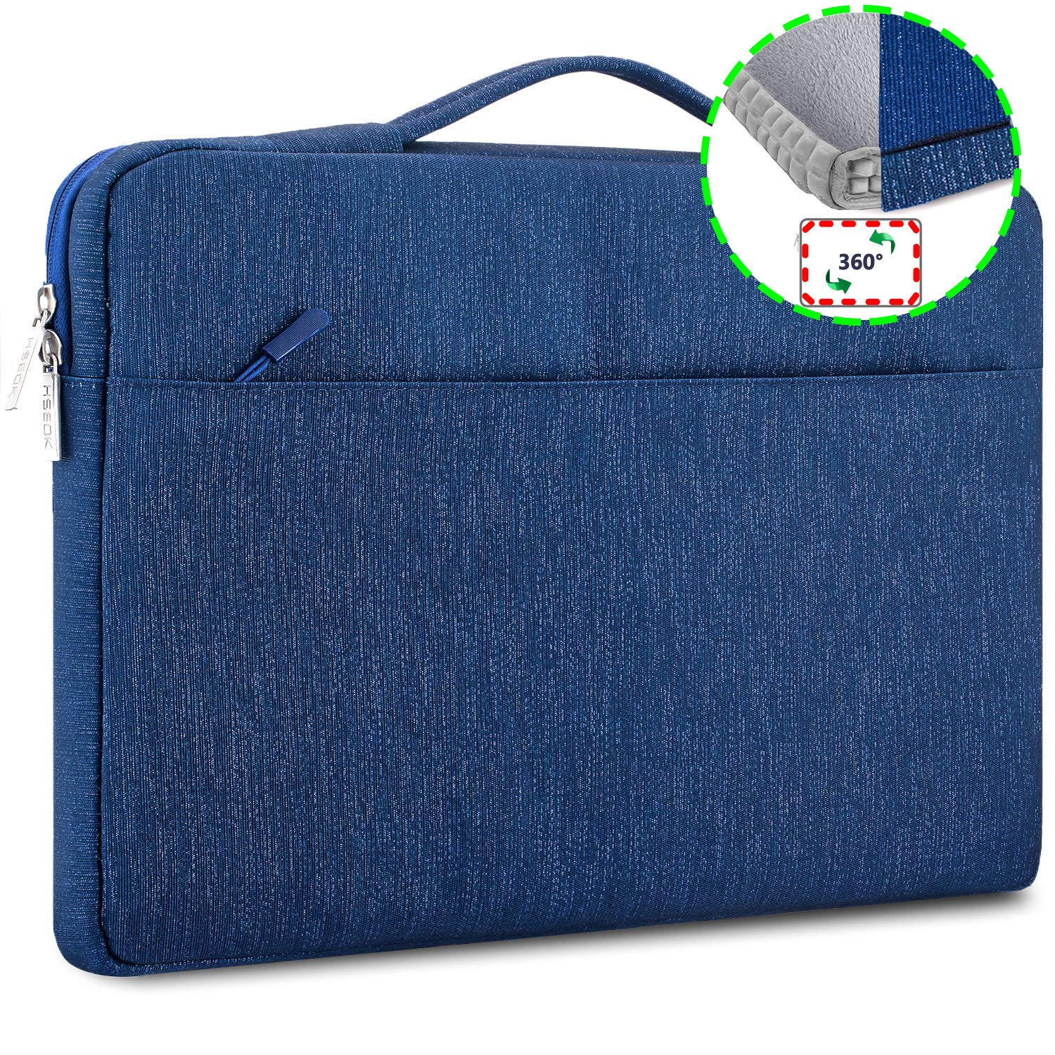 8fe0284537ff HSEOK Laptop Sleeve 15.6-Inch Case Briefcase for Most 15-15.6 Inch NoteBook  Dell/Ausu/Acer/HP/Toshiba/Lenovo,Spill and Drop Resistant Carrying Case, ...