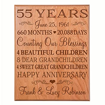 Amazon Personalized 55th Anniversary Gifts For Him Her Couple