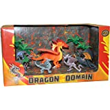 Dominio del dragón - 6 mini figuras Dragones Accesorios - Modelo aleatoria