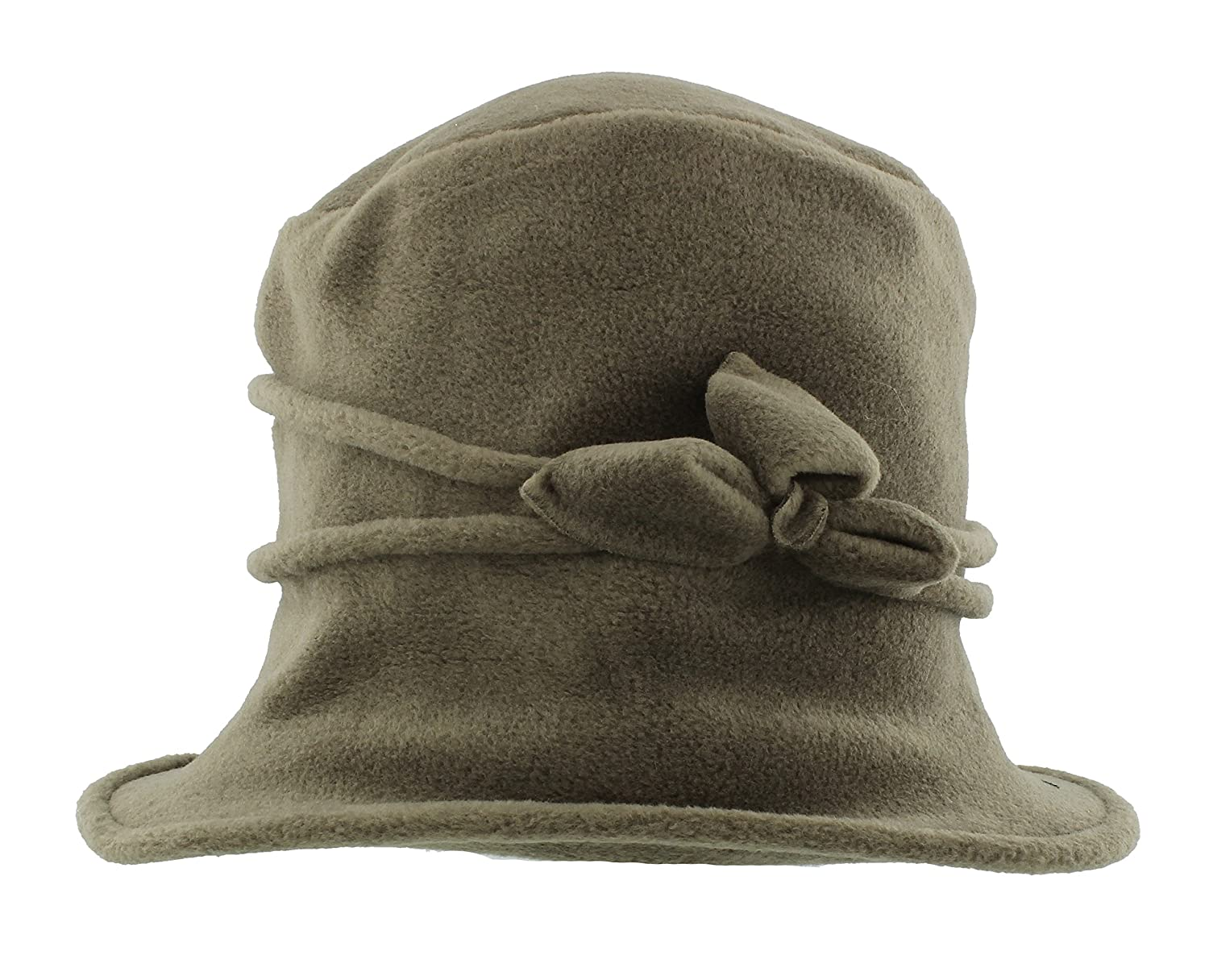 Arctic Fox Ladies Super Soft Fleece Cloche Hat With Piping & Bow Detail (PF7)