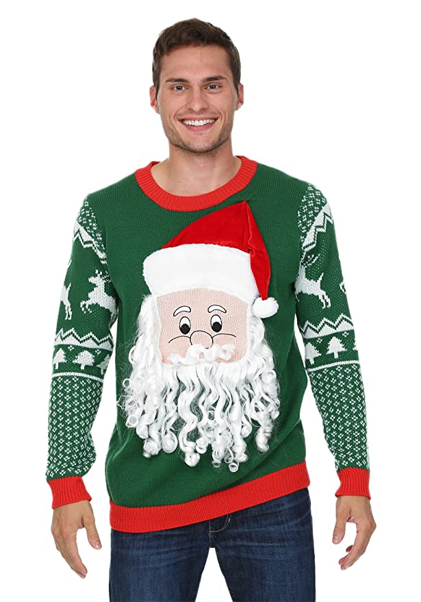 3D Santa Beard Sweater