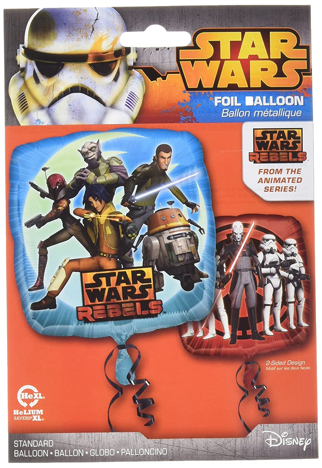 Anagram International HX Star Wars Rebels Packaged Party Balloons Multicolor
