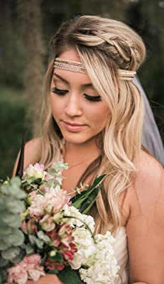 Boho Bachelorette Veil - Rose Gold & Blush
