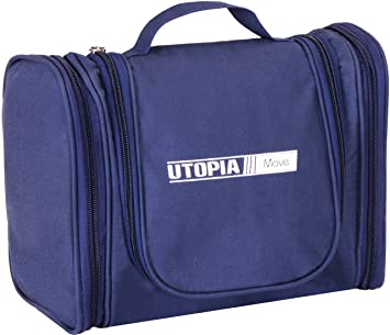 1298c3d2fc Utopia Home Toiletry Travel Bag - Microfiber - Blue for Men and Women -  Perfect for