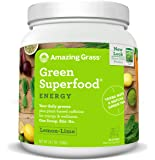 Amazing Grass Green Superfood, Energy Lemon Lime, Powder, 100 Servings, 24.7oz, Matcha Green Tea, Yerba Mate, Wheat Grass, Spirulina, Alfalfa, Acai, Greens, Vegan, Vitamin K, Probiotic