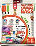 Space Saver Vacuum Storage Bags - 15 Premium Travel Space Bags - Bag Size: Jumbo Large XLarge & Medium - 2X Sealed Compression Plastic Bags For Clothing Storage , Clothes bedding & Packing - DIBAG
