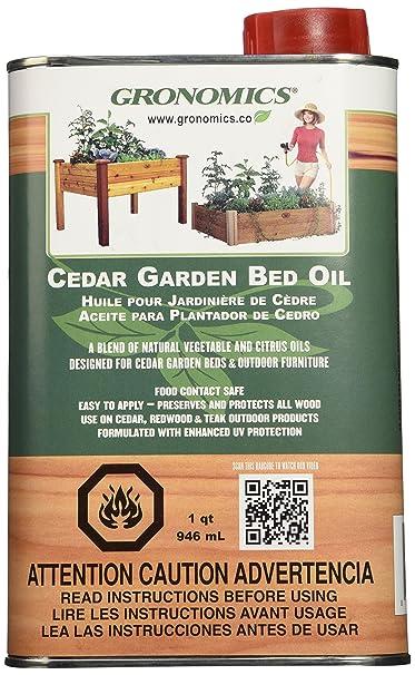 High Quality Amazon.com : Gronomics GBO1Q Cedar Garden Bed Oil, 1 Quart : Outdoor And  Patio Furniture : Garden U0026 Outdoor