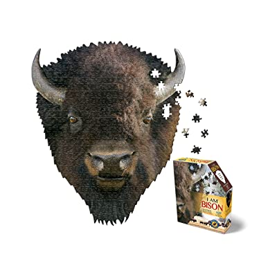 Madd Capp Puzzles - I AM Bison - 550 Pieces - Animal Shaped Jigsaw Puzzle: Toys & Games