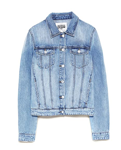 Zara Women's Basic Denim Jacket 4743/001 (X-Small)