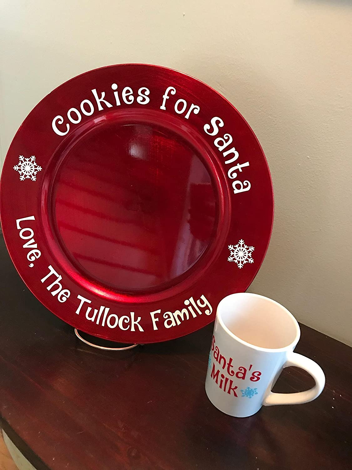 Personalized Cookies For Santa Plate and Mug Set
