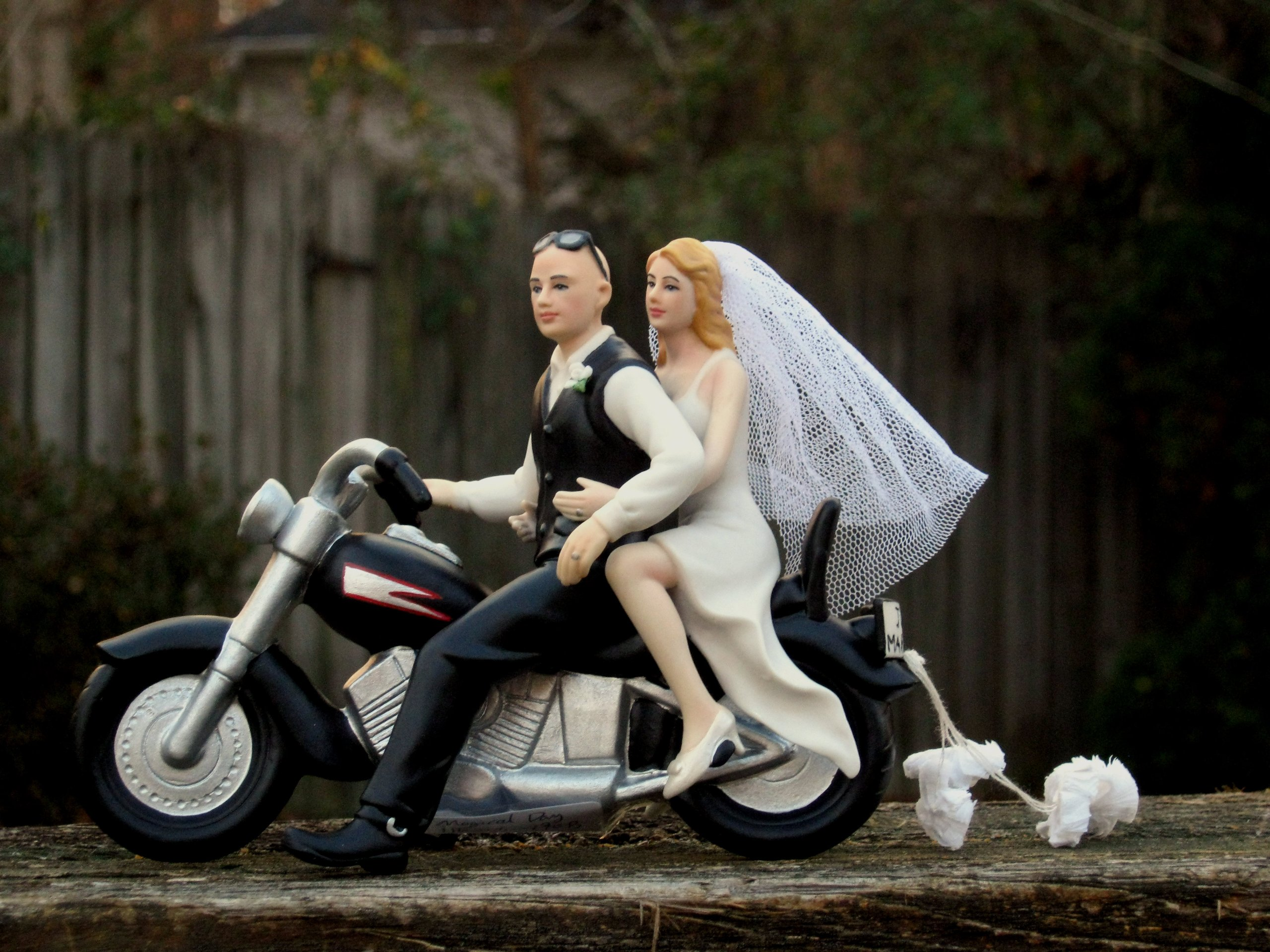 Motorcycle Cake Topper BALD Groom -- By Magical Day by Magical Day (Image #1)