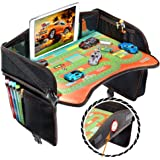 Coolmum Kids Travel Tray, Toddler Car Seat Tray, Activity Organizer, Snack Lap Tray, Baby Stroller Tray, Airplane Play Table,
