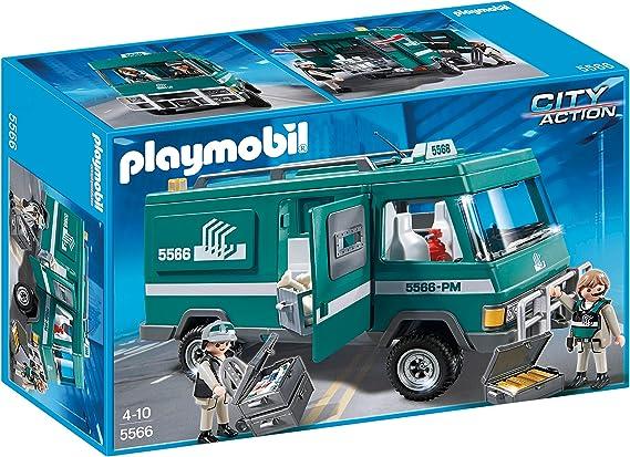 PLAYMOBIL Policía - Vehículo para Transportar Dinero, playset (5566): Amazon.es: Juguetes y juegos
