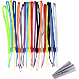 Wisdompro 20 Pack 7-inch Short Colorful Wrist Lanyard /Strap Bulk for USB Flash Thumb Drive, key, Keychain, ID Badge Holder, Name tag - Assorted Colors (Blue /Purple /Navy /Green & more)