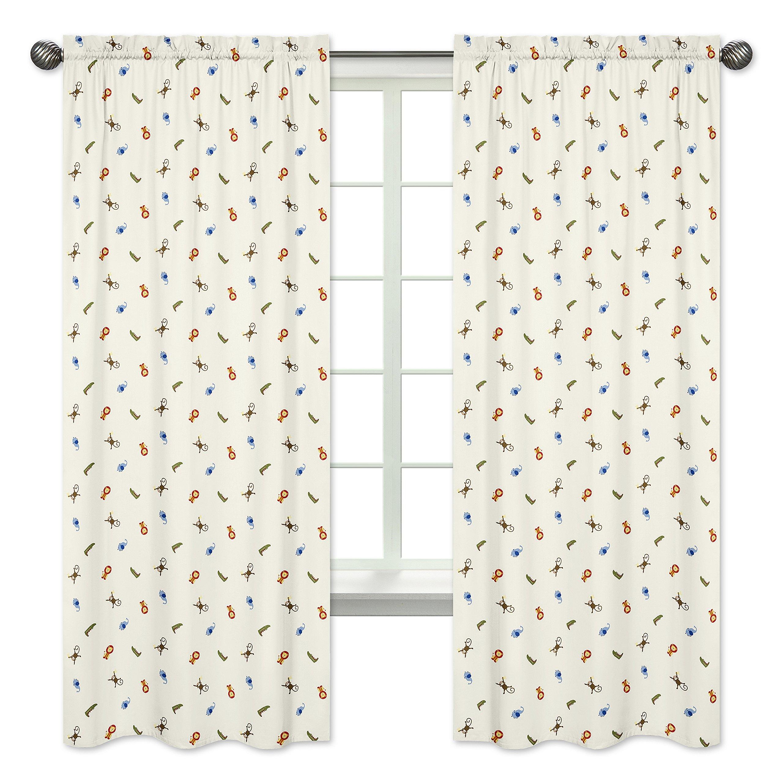 Sweet Jojo Designs 2-Piece Jungle Time Collection Window Treatment Panels