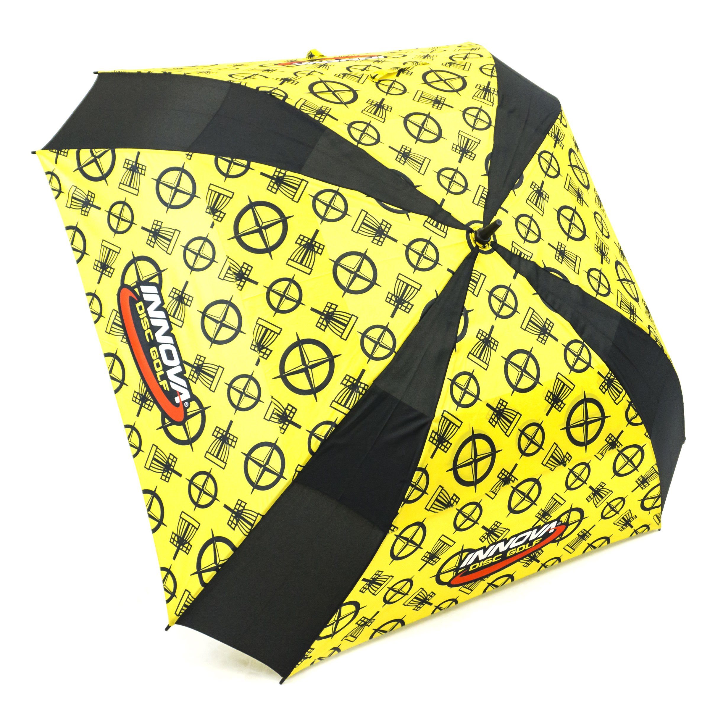 INNOVA Disc Golf Proto Pattern Golf Umbrella - Yellow