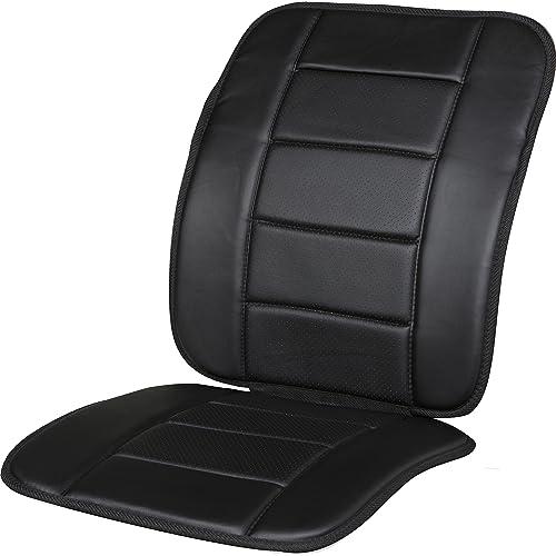 Kool Kooshion 60 287005B Faux Leather Full Seat Cushion Black