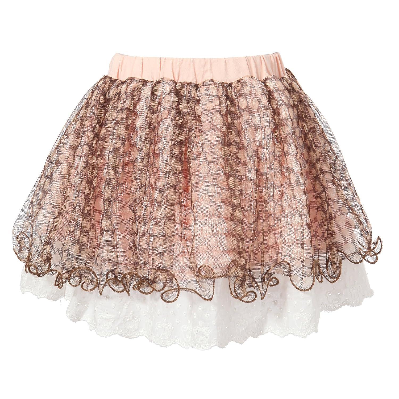 Richie House Little Girls Sweet Skirt Polka Dot Mesh Covered RH1630