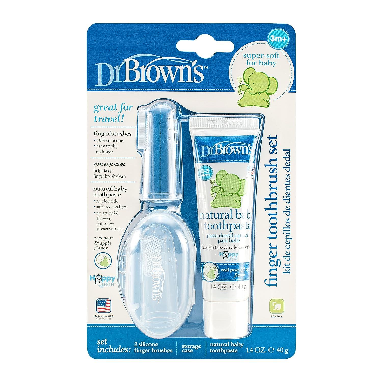 Dr. Brown's Finger Toothbrush Set (Pack of 1, White)