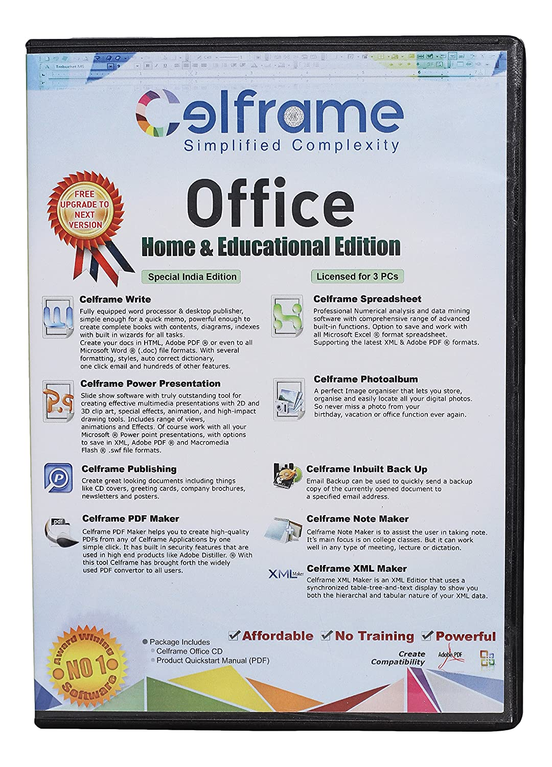 Celframe Office Home and Educational CD, 3 PC (COH3ENRB6