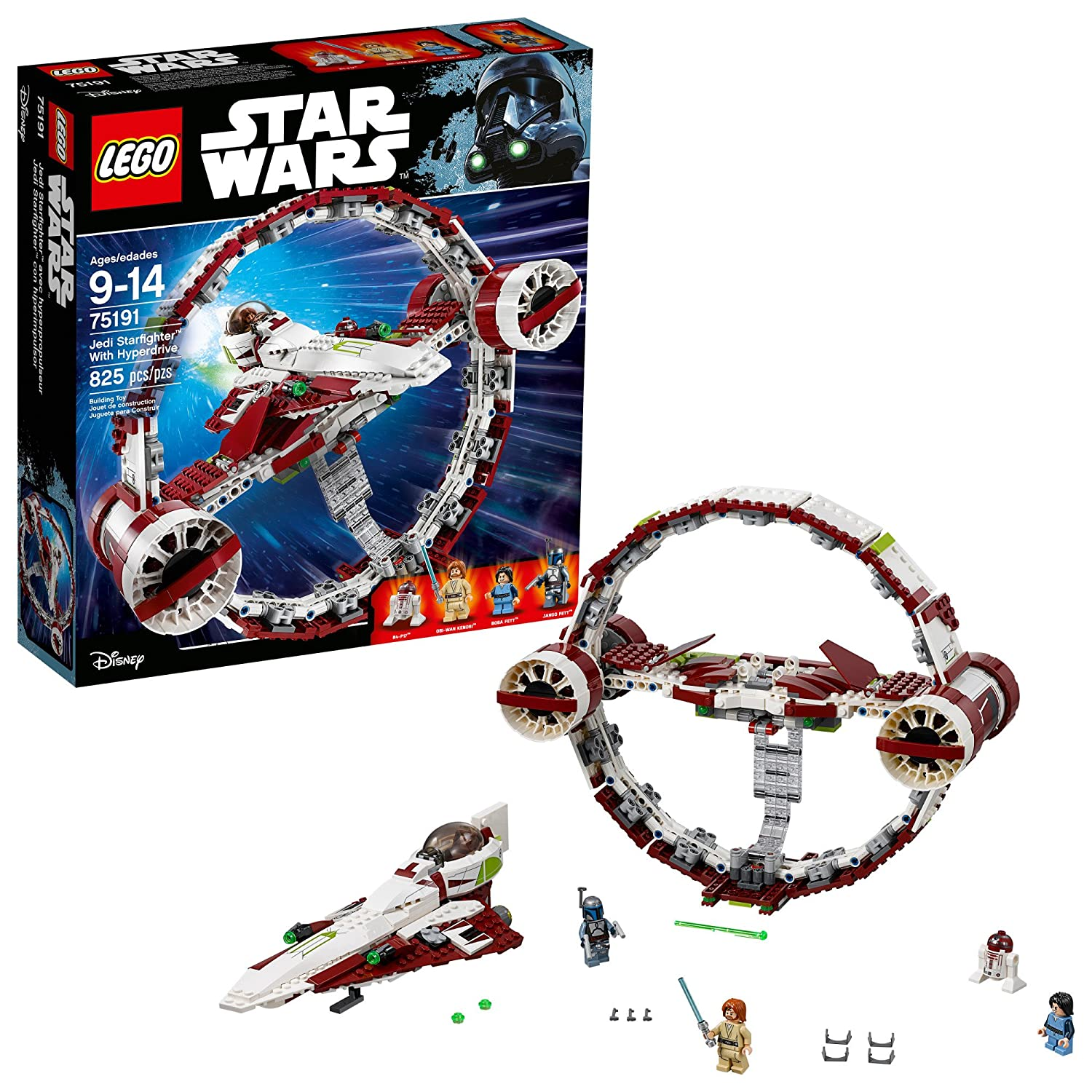 LEGO 6175769 Star Wars Jedi Starfighter with Hyperdrive 75191 Building Kit (825 Piece)