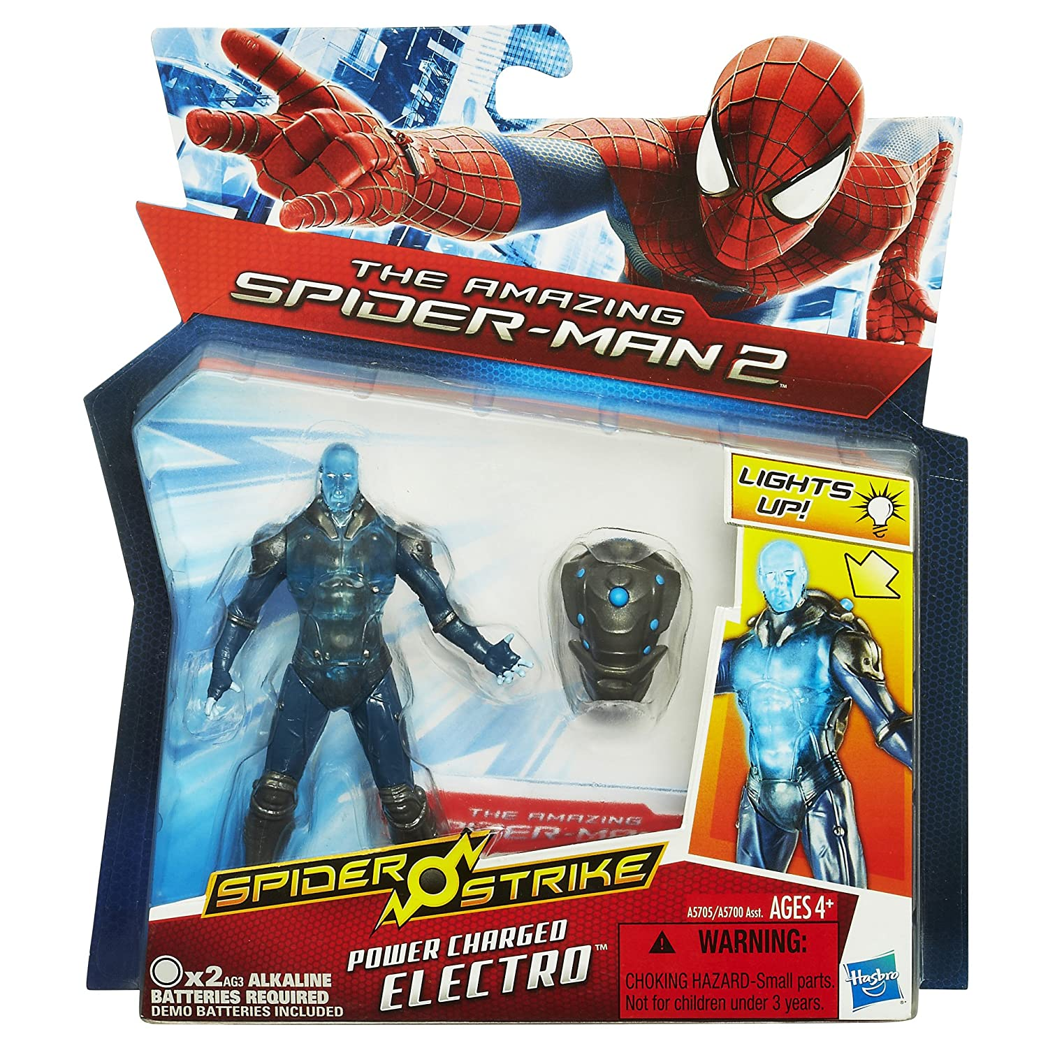 Marvel Amazing Spider-Man 2 Spider Strike Power Charged Electro Figure Hasbro A5705000