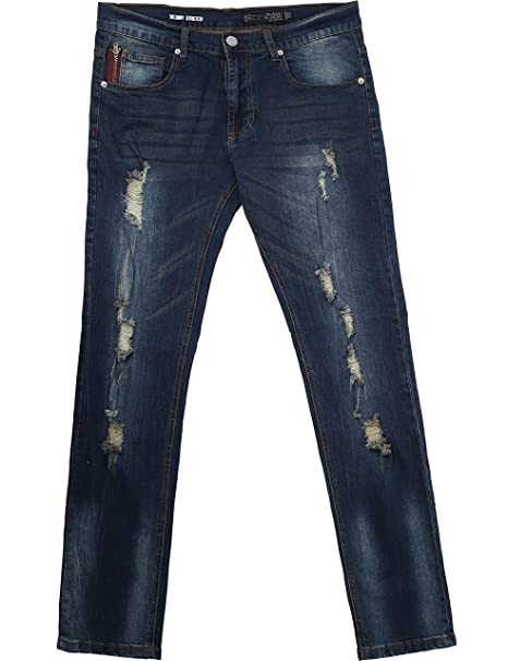Amazon.com: Ma Croix para hombre Skinny Fit Stretch Jeans ...