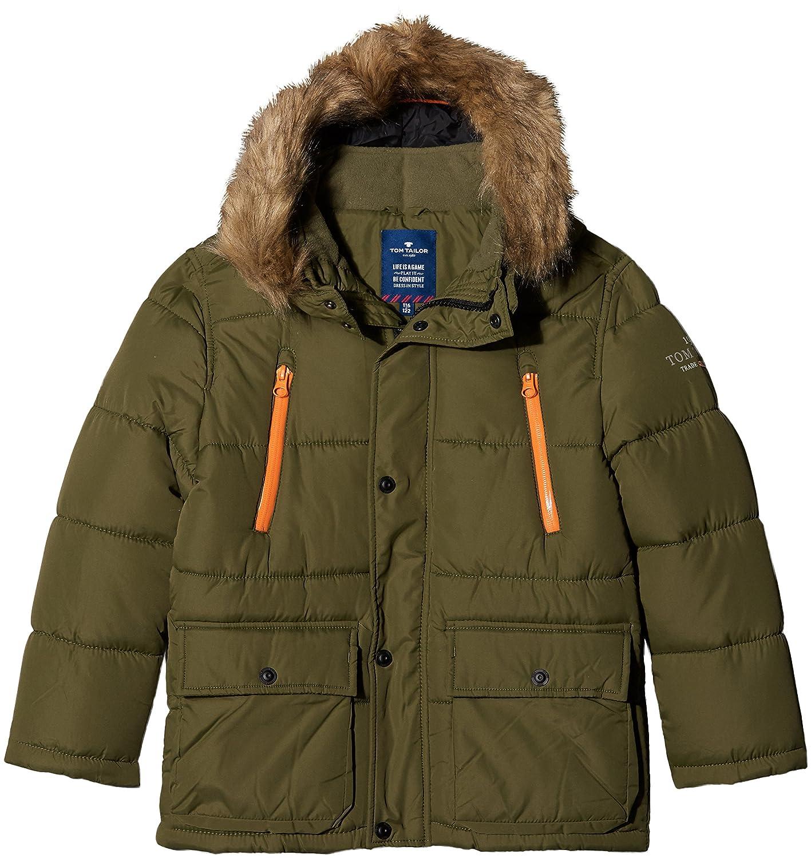 TOM TAILOR Kids Jungen Tech Parker Style Jacke, Grün (Deep