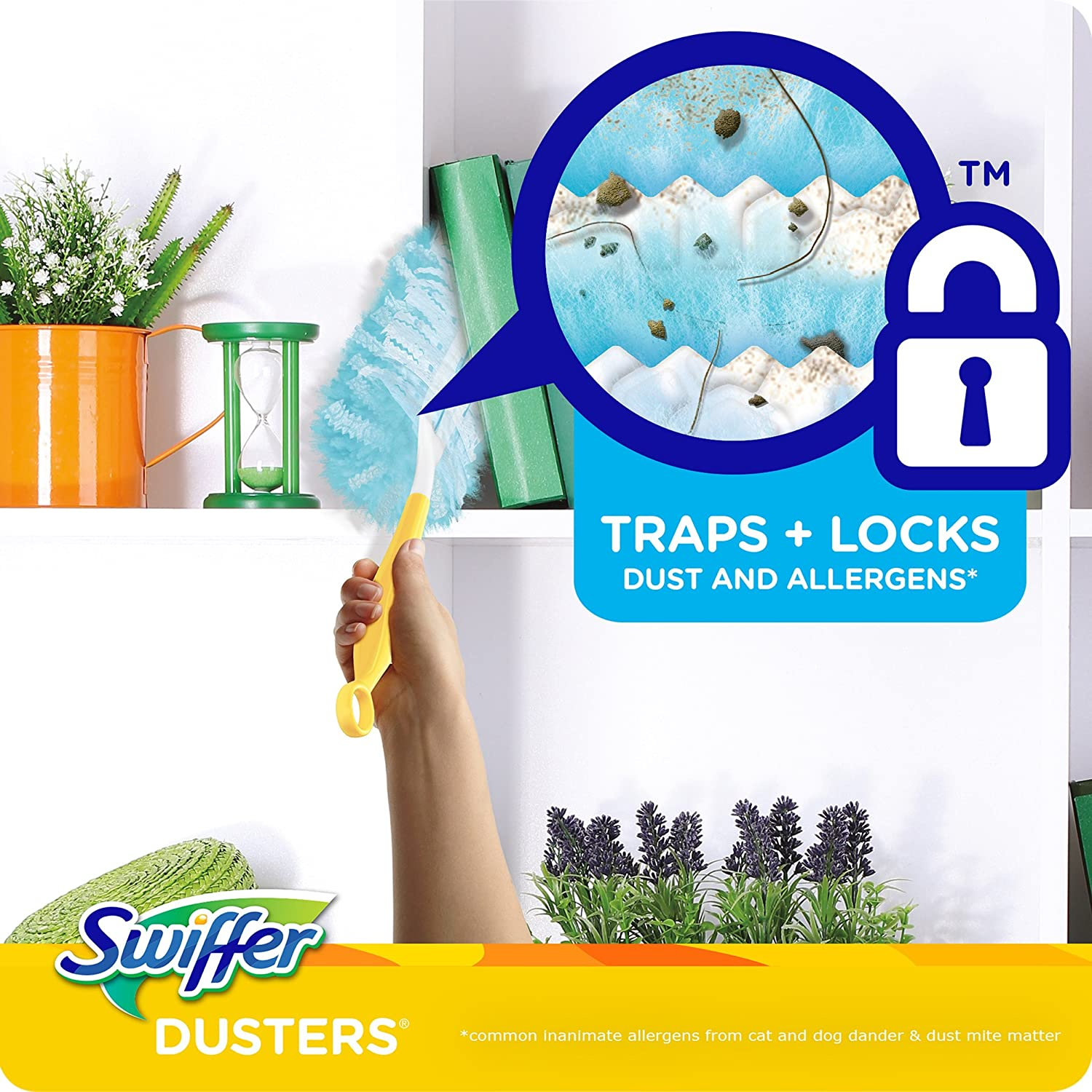 Swiffer 180 Dusters Multi Surface Refills Packaging May Vary with Febreze Lavender /& Vanilla Scent 10 Count