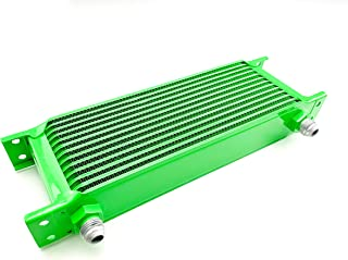 product image for Speedline'z Motorsports 13 Row High Performance Oil Cooler With 8AN Fitment For Auto, Truck, Motorcycle, UTV, Side by Side and ATV's. High Performance Lime Green Powder Coated, 24 Month Warranty