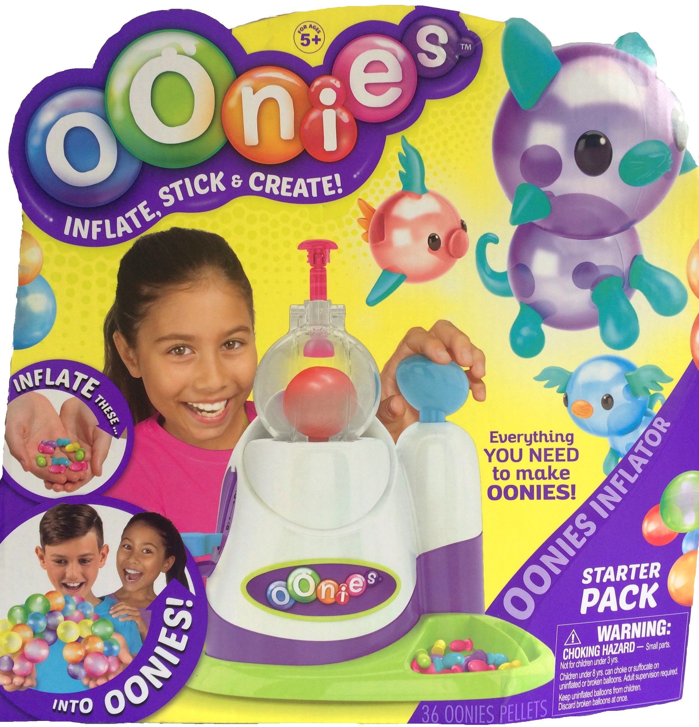 Oonies 5 Piece Toy Bundle Includes Starter Pack with Inflator Tool, Oonies MEGA Refill Multicolor Pack, Oonies Additional Theme Pack, 30 Puffy Sticker Adhesive Eyes & Santa Clings by Mixed (Image #2)