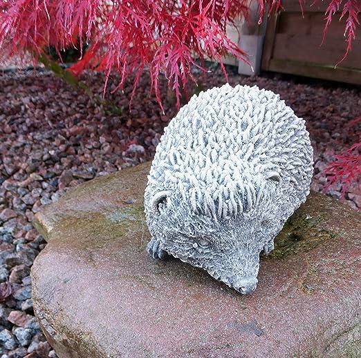 piedra Figura Jardín Figura erizo Willi Animales Figura Jardín Decoración Jardín figuras figuras de piedra de piedra: Amazon.es: Jardín