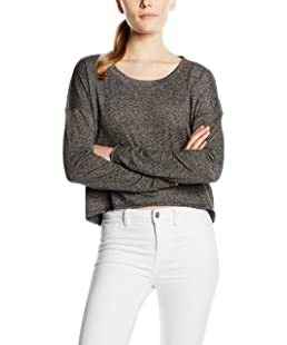 ONLY Women's onlFLORENCE L/S PLAIN CROPPED SWT Sweatshirt, Grey (Dark Grey Melange), 38 (Manufacturer size: Medium)