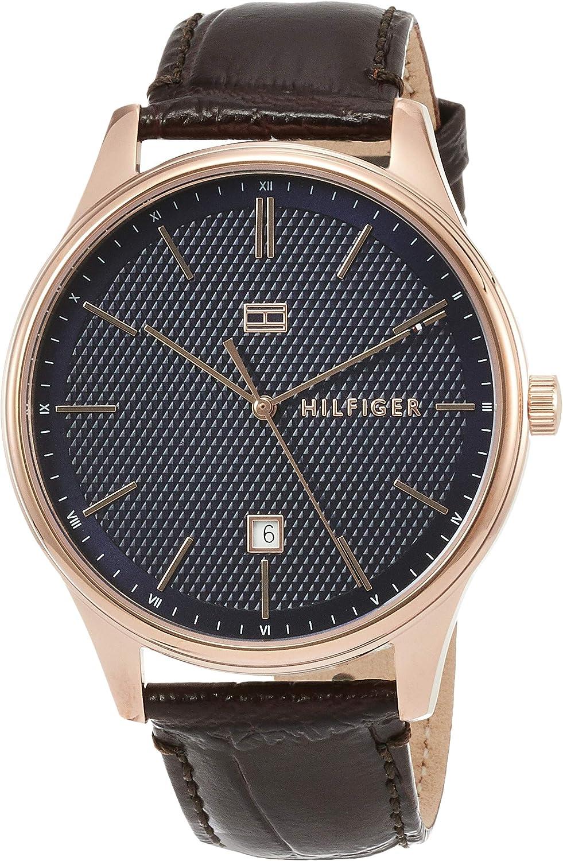 [トミーヒルフィガー] 腕時計 DAMON ネイビー文字盤 クォーツ 1791493 メンズ 並行輸入品 ブラウン