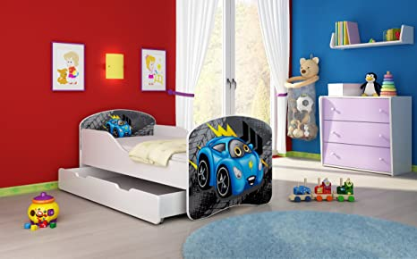 16 Sweet kitty 2, 160x80 cm + drawer FREE MATTRESS ACMA I WHITE … 140x70 160x80 180x80 40 Designs CHILDREN TODDLER KIDS BED