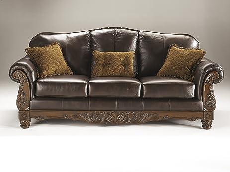 amazon com north shore top grain leather dark brown color old world rh amazon com old world style sofas old world sofas & loveseats