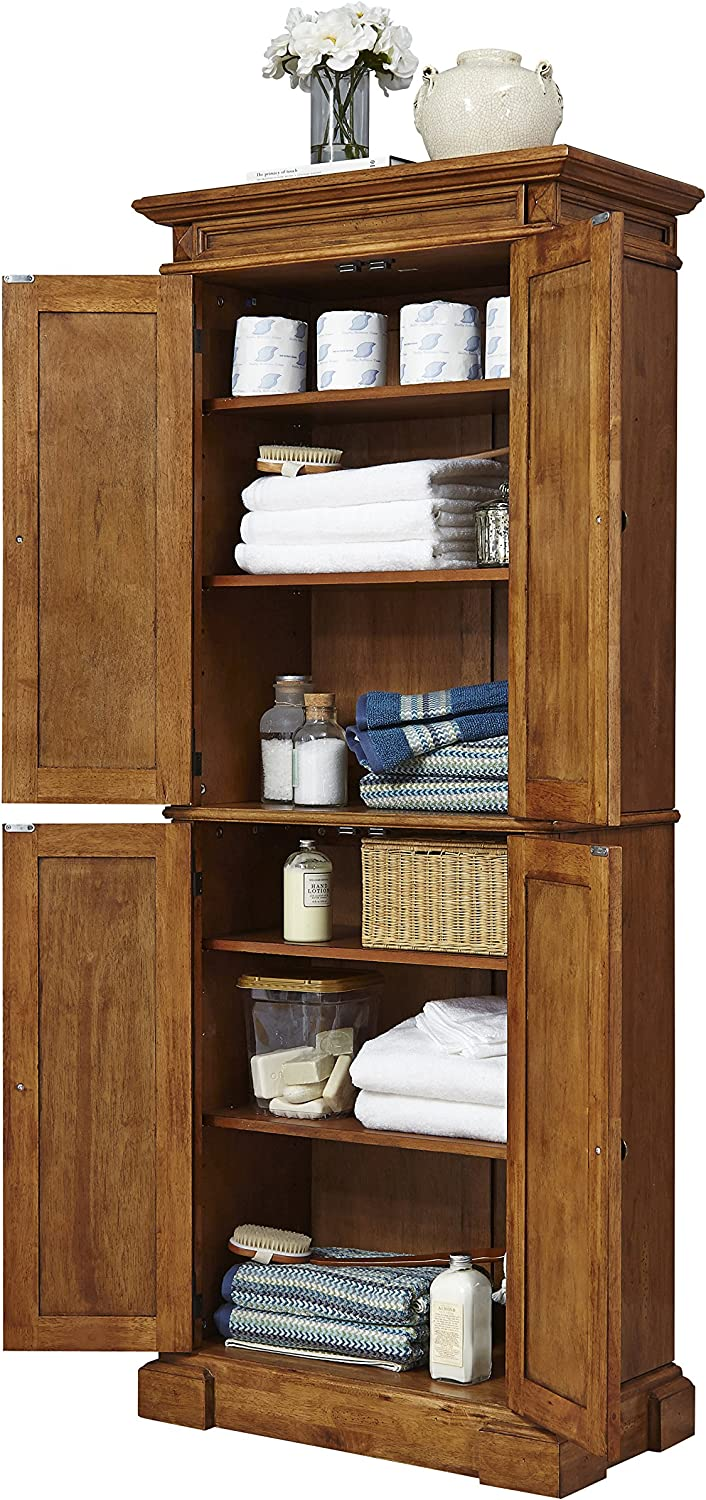 Americana Distressed Oak Pantry by Home Styles: Furniture & Decor
