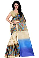 Trendz Women's Bhagalpuri Cotton Silk Saree With Blouse Piece