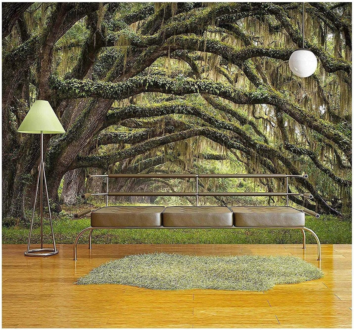 wall26 - Oaks Avenue Charleston Sc Plantation Live Oak Trees Forest Landscape in Ace Basin South Carolina Lowcountry - Removable Wall Mural | Self-Adhesive Large Wallpaper - 100x144 inches