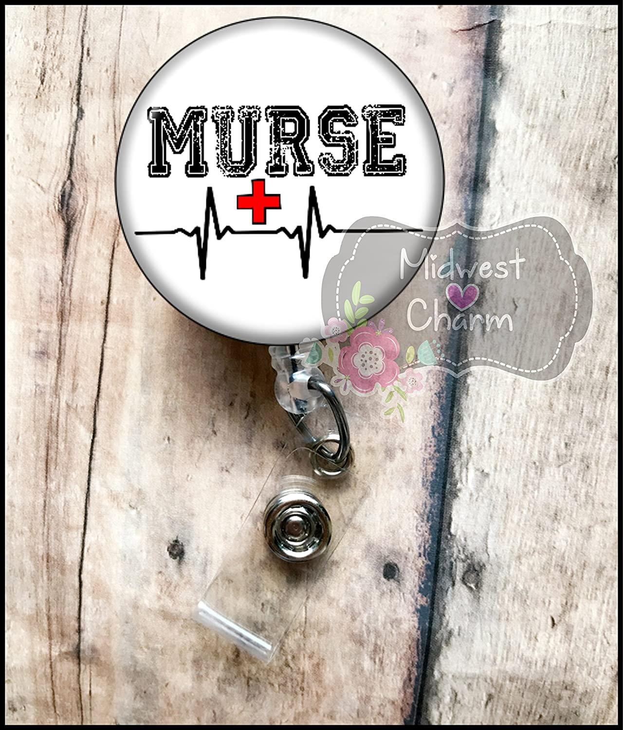 Murse Male nurse..Retractable badge holder, nurse gift, ob, L&D, id holder, reel, RN, LPN, CNA