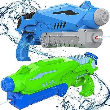 Joyjoz Pistola de Agua 800ML*2 Blaster de Agua para Niños Adultos ...