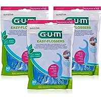 GUM EASY-FLOSSERS gewaxte tandzijde in een houder / ergonomisch gevormde tandzijde sticks voor eenvoudig gebruik van…