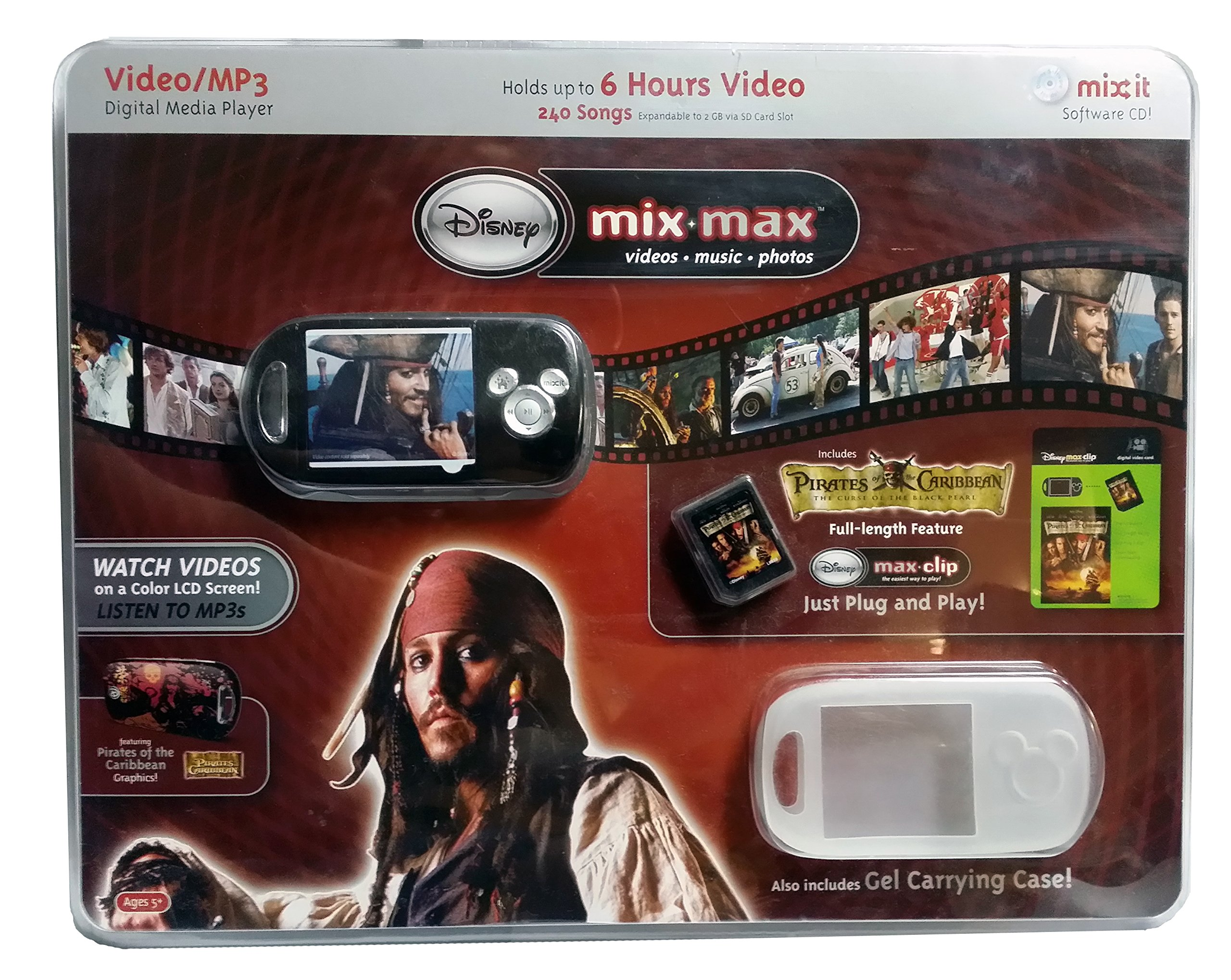Disney Mix-Max Video/MP3 Digital Media Player Featuring Pirates of the Caribbean Graphics!