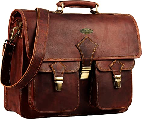 Men/'s Real Limited Vintage Leather Messenger Bag Shoulder Laptop Bag Briefcase