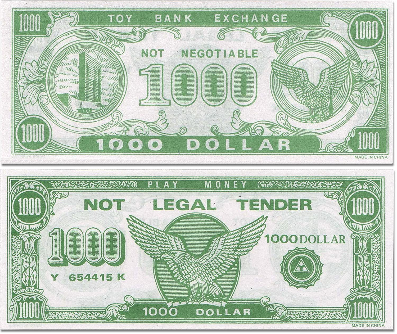 Amazon paper play money bulk 1000 of 1000 bills per package amazon paper play money bulk 1000 of 1000 bills per package toys games pronofoot35fo Image collections