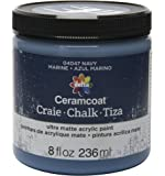 Delta Creative Ceramcoat Ultra Matte Chalk Furniture & Craft Paint in Assorted Colors (8 Ounce), 04047 Navy