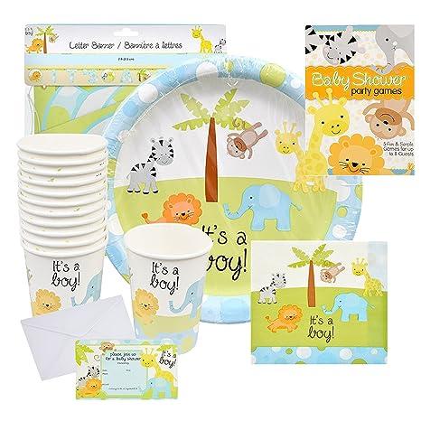 Amazon Com Baby Shower Decorations For Boy Safari Decorations